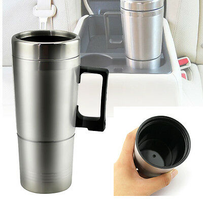 12v 300ml Portable in Car Coffee Maker Tea Pot Vehicle Thermos Heating Cup Lid