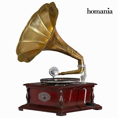 Retro Square Gramophone Wooden Phonograph Vintage Record Player By ***HOMANIA***