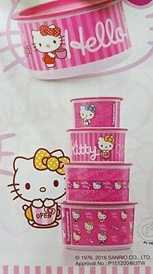 Tupperware Hello Kitty  Canister Set 4 pcs Limited edition