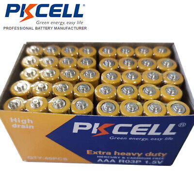 NEW PKCELL 40 AAA Battery Super Heavy Duty 1.5v R03P