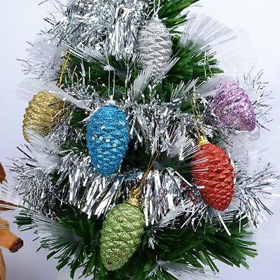 6pcs/Pack Assorted Color Pinecone Christmas Decorations Craft Ornament