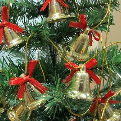 6pcs/Pack Gold Xmas Bell Shaped Christmas Decoration Gift Wedding Favours