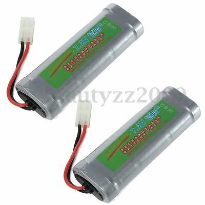 2Pcs 7.2V 5300mAH NiMH Rechargeable Battery Pack For RC Car Models Truck Toys