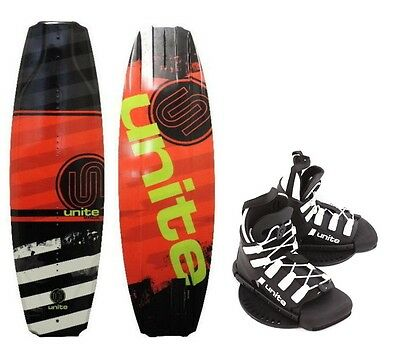 Base Sports Kinder Wakeboard Manuel Unite Wakeboardbindung 129 red