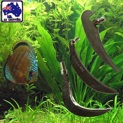 Small Sickle Aquatic Fishing Grass Sharp Cutter Knife Portable 3 Shapes OFIS311