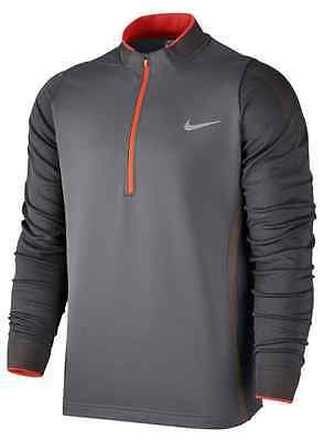 Men's NIKE GOLF Therma-Fit Engineered 1/2 Zip Top - Size Large - Grey