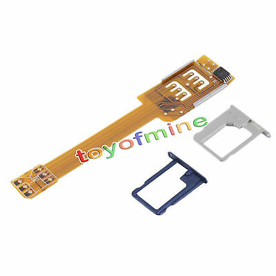 Dual Double SIM Card Adapter Converter, Trays for Apple iPhone 5 6 6s 7 Plus