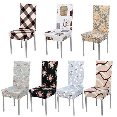 Removable Stretch Seat Chair Cover Protector for Dining Room Wedding Party Hotel