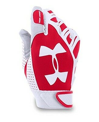 Under Armour Women's Motive Fastpitch Batting Gloves, Red (600), Large