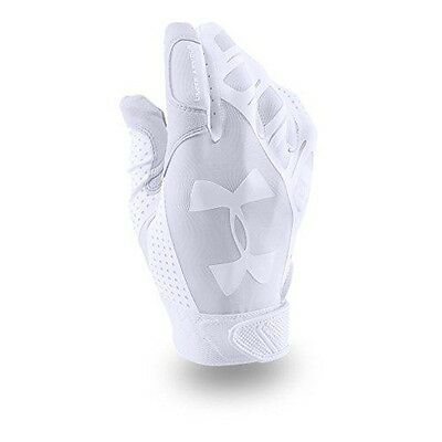 Under Armour Women's Motive Fastpitch Batting Gloves, White (100), Small