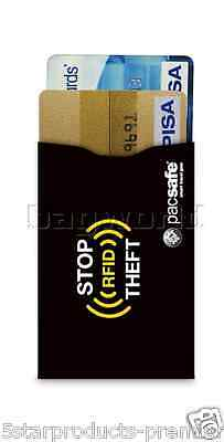 New Pacsafe Sleeve 25 Rfid Blocking Credit Card Sleeves Black Protect Data Theft