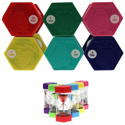 Set of 6 Tink n Stink Large Egg Hourglass Sand Timers-30s to 60-Mins Autism SEN