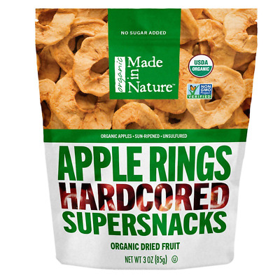 New Made In Nature Organic Apple Unsulfured Dried Fruit No Sugar Added Daily