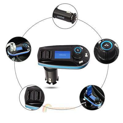 Car Bluetooth2.1 FM Transmitter Handsfree with Dual USB 2.1A Device Charging Kit
