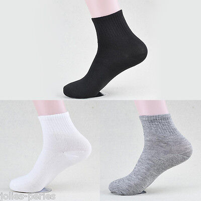 JP 5Pairs Men Sports Socks 100% Cotton Casual Anklet Running Socks