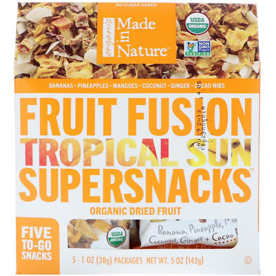 New Made In Nature Organic Dried Fruit Tropical Fusion No Gluten Unsulfured Care