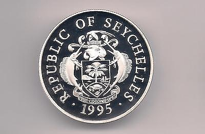 Seychelles 1995 25 Rupees Proof Silver Coin