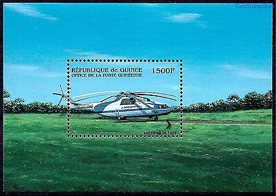 Guinea 1983 Helicopter Aircraft Flight Aviation Transport m/s MNH