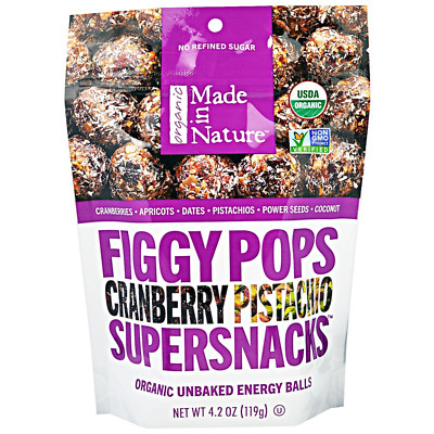 Made In Nature Organic Figgy Pops Supersnacks Cranberry Pistachio Daily Food
