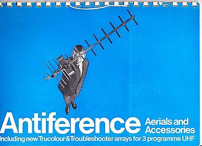 Vintage Antiference television aerial catalogue 1970