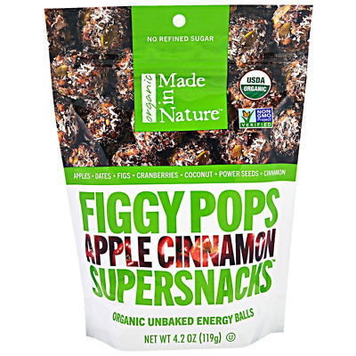 New Made In Nature Organic Figgy Pops Supersnacks Apple Cinnamon Daily Food