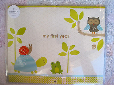 "Carter's First Year Calendar, Stickers Provided, Measures 11 x 18"" - Woodland"