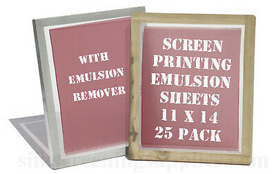 Emulsion Sheets - 25 Pk & Remover Conc. 11x14