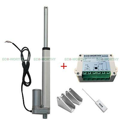 "8"" 200mm Linear Actuator & Wireless Remote Control 330lbs Heavy Duty Car,Sofa"