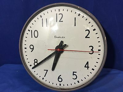 """13"""" Simplex Slave Clock Schoolhouse Electric Hanging Wall Glass 507-041"""