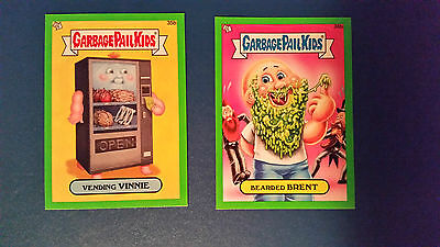 Gpk Garbage Pail Kids Brand New Series 1 Bns1 (Lot Of 2 Base Parallels Green #2)