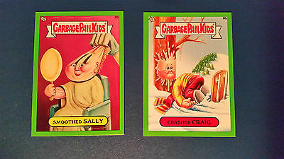 Gpk Garbage Pail Kids Brand New Series 1 Bns1 (Lot Of 2 Base Parallels Green #1)