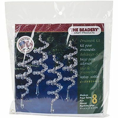 Beadery Plastic Holiday Beaded Ornament Kit Crystal Spirals 6.5-inch Makes 8