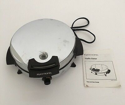 Vintage Kenmore Chrome Waffle Baker Round Works Great