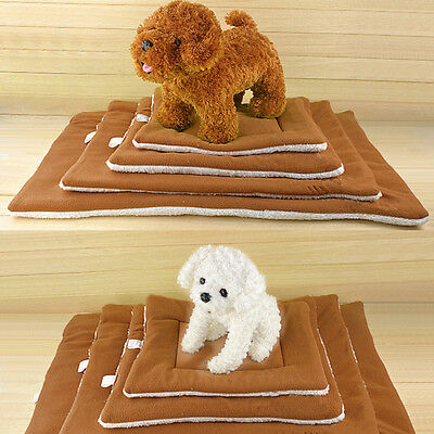 Pet Bed Cushion Mat Pad Dog Cat Kennel Crate Warm Cozy Soft House Blanket S-XL