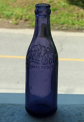 Rare purple colored Canadian COCA-COLA straight side soda bottle FREE SHIPPING!