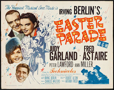 EASTER PARADE - Theatrical Movie Poster 1/2 Sheet , Irving Berlin musical