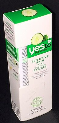 Yes To Cucumbers Organic Soothing EYE GEL For Sensitive Skin 15ml With Chamomile