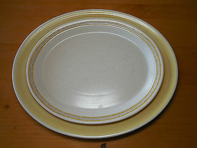 Franciscan CA USA HACIENDA GOLD 11 in & 13 in Oval Serving Platters 2 pcs