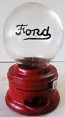 Ford Round Embossed Penny Gumball Machine Circa 1930's (video)