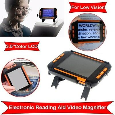 """3.5""""LCD 2-32X Portable Video Magnifier Reading Aide for Low Vision With Stand"""