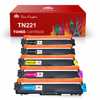5Pk TN225 TN221 BK Color Toner Set For Brother HL-3140CW MFC-9130CW MFC-9330CDW