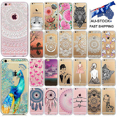 For Apple iPhone 6 6S Plus 7 8 TPU Case Covers 3D Patterns Thin Silicone Case