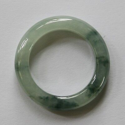 Size 9 1/4 ** CERTIFIED Natural  A  Beautiful Icy Green Jadeite JADE Ring #R135