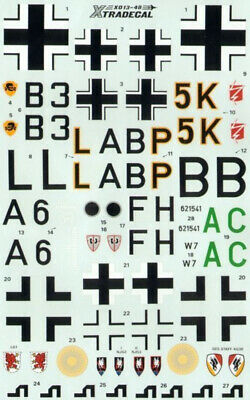 Xtradecal X48013 1/48 Junkers Ju 88A-4/D-1/G-6C Model Decals