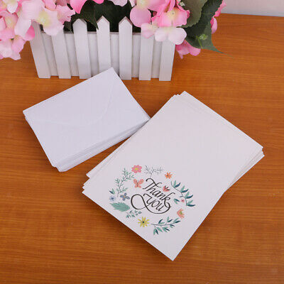 50 Floral Flower Wedding Birthday Anniversary Baby Shower Thank You Cards
