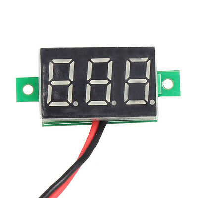 Mini DC 2.5-30V Red LED Panel Voltage Meter 3-Digital Display Voltmeter Detector