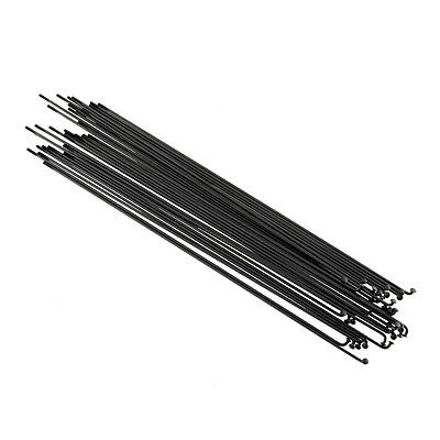 36PCS Stainless Steel Spokes Mountain Road Bicycle 258mm w/Nipples Black Useful