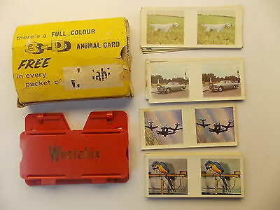 Vintage Weetabix 3D Viewer and 27 cards