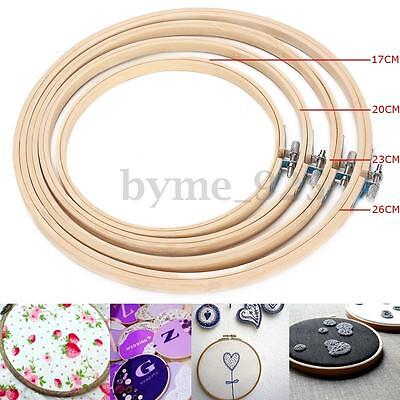 4pcs Embroidery Hoops Ring Frame Needlework Cross Stitch Tools set 17/20/23/26cm