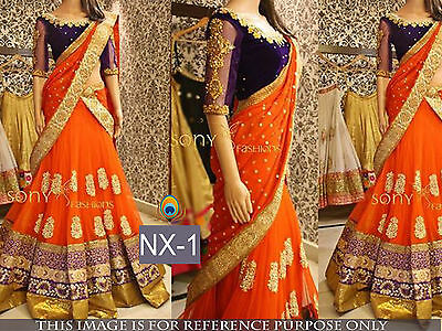 New Indian design Lehenga Choli Wedding Designer Bollywood Style Partywear Dress